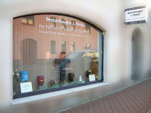 Unsere Filiale in Schöneck - Das Schaufenster.